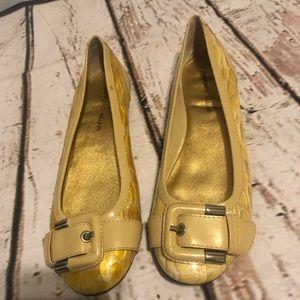 Antonio Melani gold yellow ballet flats size 8 M